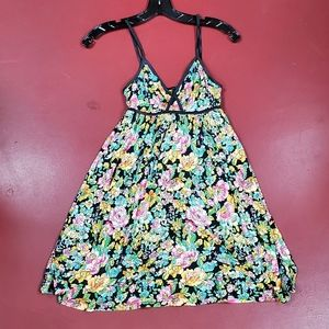 H&M Floral Cotton Babydoll Style Dress Size Small